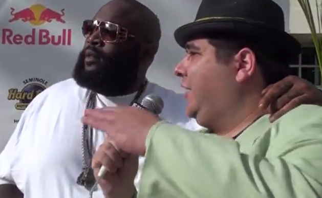 Rick Ross Super Bowl Party Interview