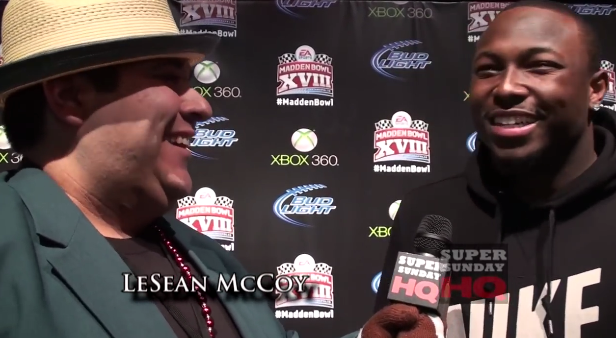 LeSean McCoy Madden Bowl Super Bowl Party