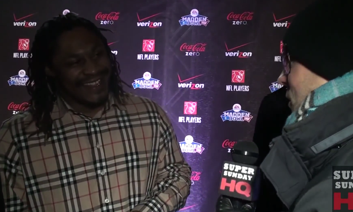 Marshawn Lynch Super Bowl Party Interview