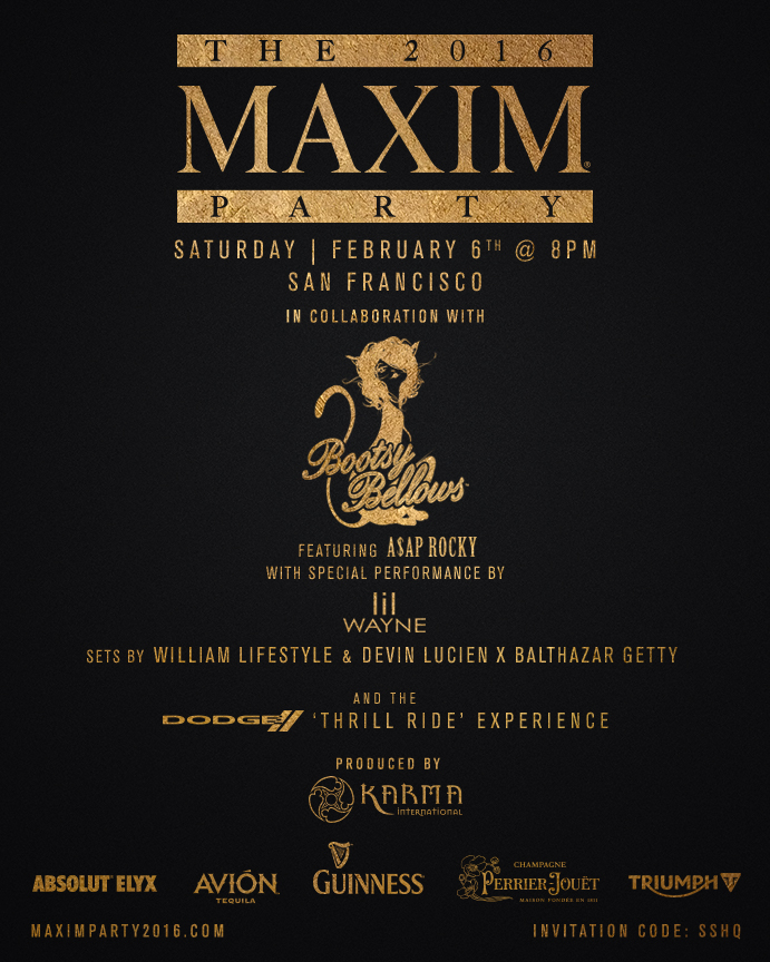 Maxim Super Bowl Party 2016 Lil Wayne Asap Rocky