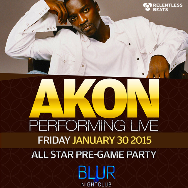Akon Super Bowl Party BLUR Nightclub Arizona 2015