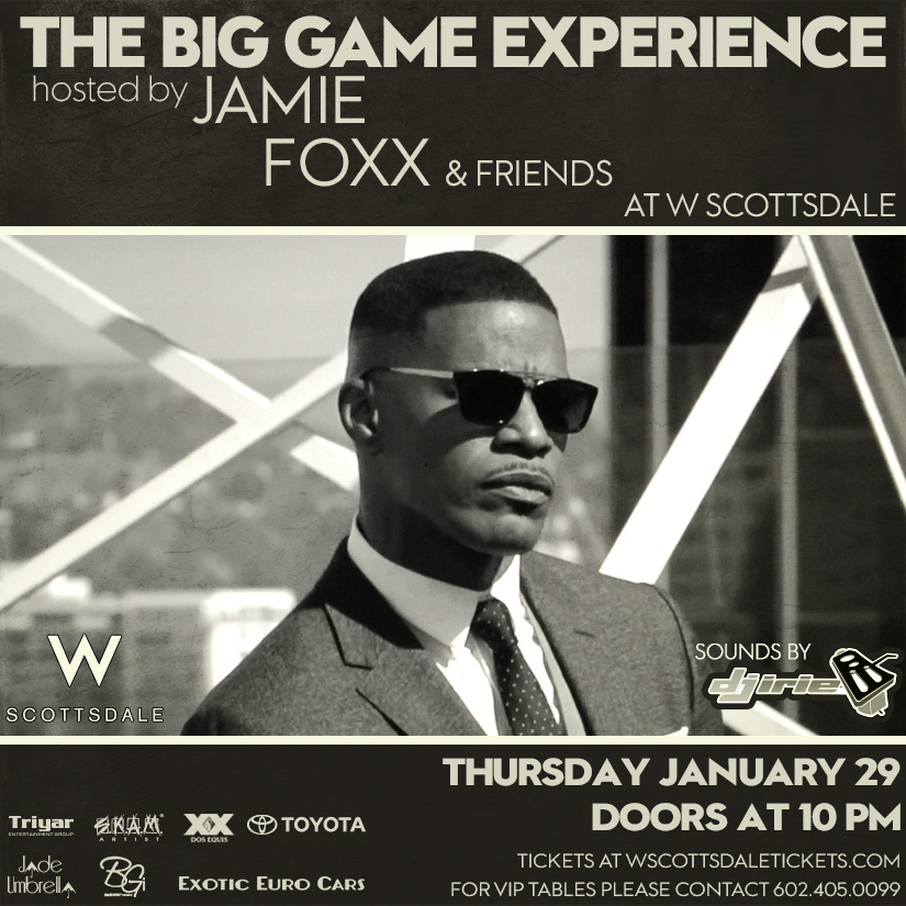 Jamie Foxx Super Bowl Party W Hotel Scottsdale Arizona 2015
