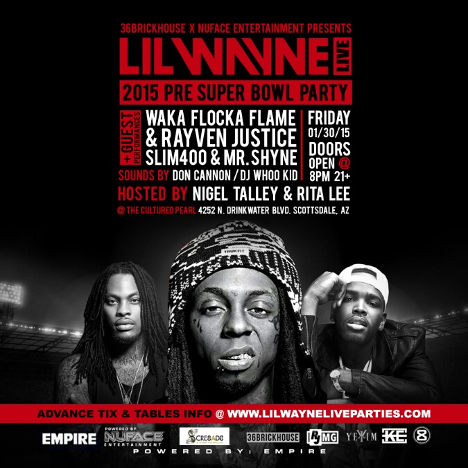 Lil Wayne Super Bowl Party Arizona 2015