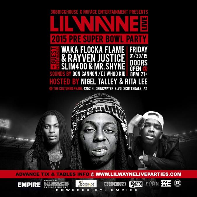 Lil Wayne Super Bowl Party Arizona 2015