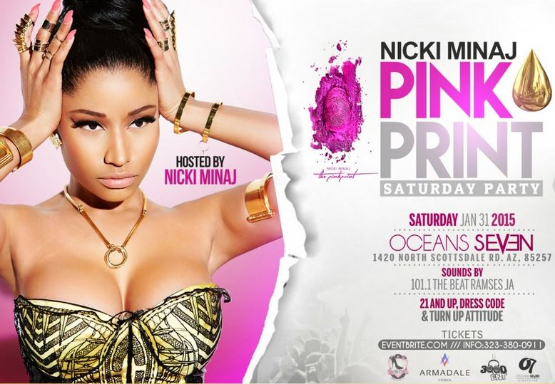 Nicki Minaj Super Bowl Party Arizona 2015