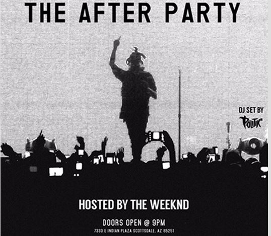 The Weeknd Super Bowl Party Arizona Maya 2015