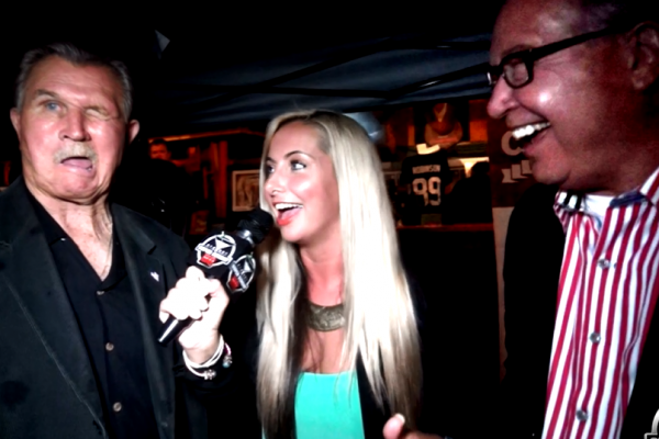 2015 Cigars with the Stars Mike Ditka Ron Jaws Jaworski Super Bowl Party