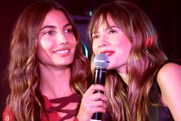 Lily Aldridge Behati Prinsloo Leather and Laces Super Bowl Party
