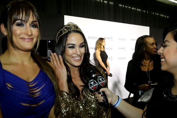 Total Divas Super Bowl Party Maxim Bella Twins