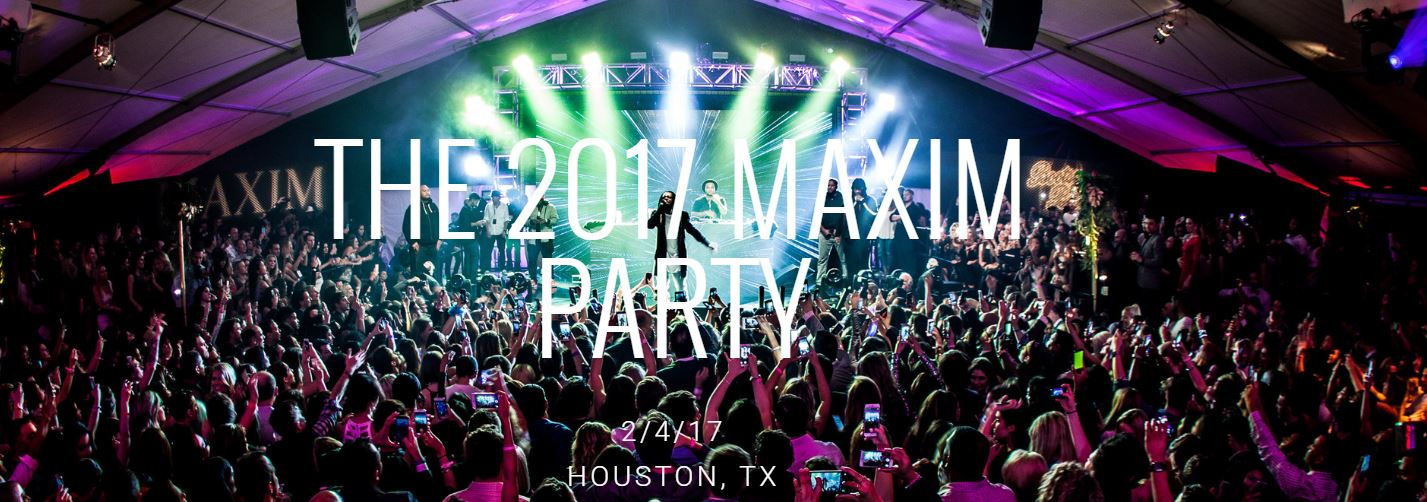 2017 Maxim Super Bowl Party Houston SB50 Super Bowl Events Super Bowl Parties