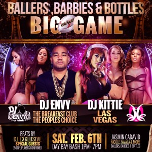 "SAN JOSE SATURDAY DAY BASH: ""BALLERS, BARBIES, BOTTLES"" SUPER BOWL PARTY"