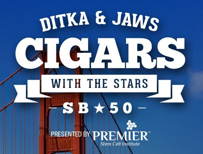 Ditka & Jaws Cigars with the Stars Super Bowl 50 Party 2016 San Francisco