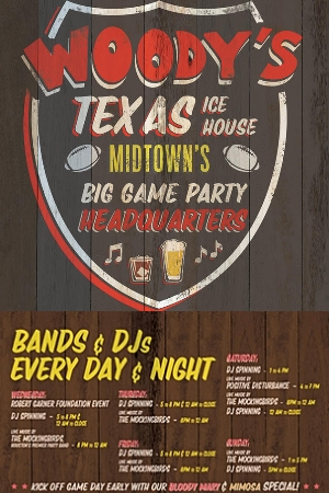HUGE SUPER BOWL PARTY WEEKEND EVENTS AT LITTLE WOODROW'S MIDTOWN!