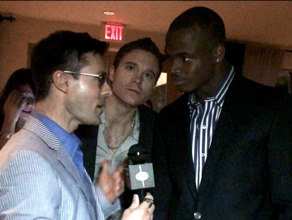Adrian Peterson Minnesota Vikings Super Bowl Party Kickstarter Video Bomb Photo Bomb