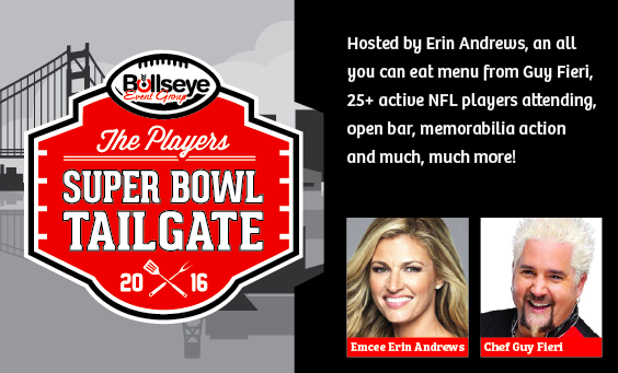 Erin Andrews Guy Fieri Super Bowl Party