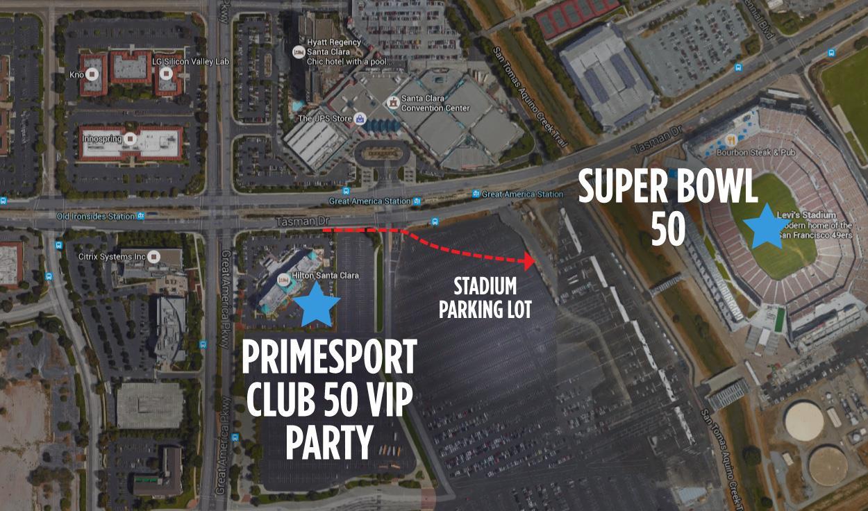Club 50 Primesport VIP Super Bowl Party Santa Clara Levi Stadium