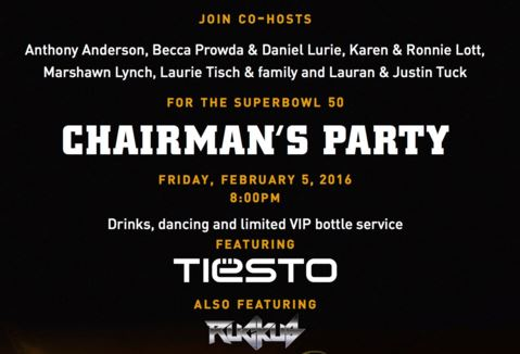 DJ Tiesto Super Bowl 50 Party 2016 SF Bay Area