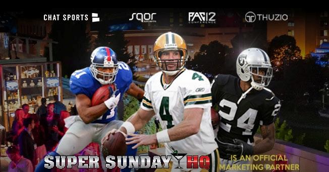 Legends of The Game Super Bowl Party Brett Favre Charles Woodson Tiki Barber SB50