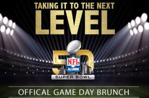 NFL Alumni Gameday Brunch Super Bowl 2016 Party Tailgate Palo Alto Flemings Steakhouse