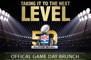 NFL Alumni Gameday Brunch Super Bowl 2016 Party Tailgate Palo Alto Flemings Steakhouse