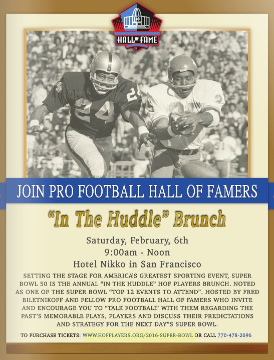 NFL HOF In The Huddle Brunch
