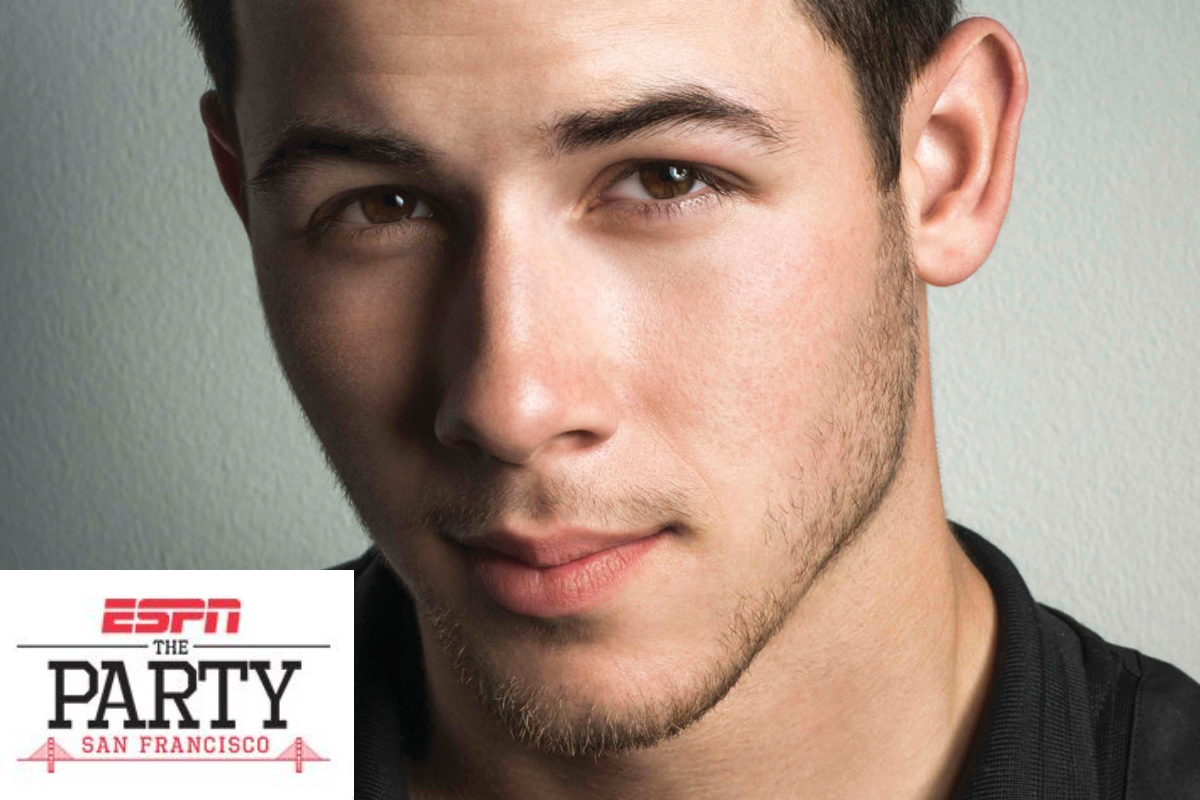 Nick Jonas ESPN Super Bowl Party thumb