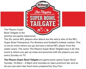 Players Super Bowl Tailgate Big