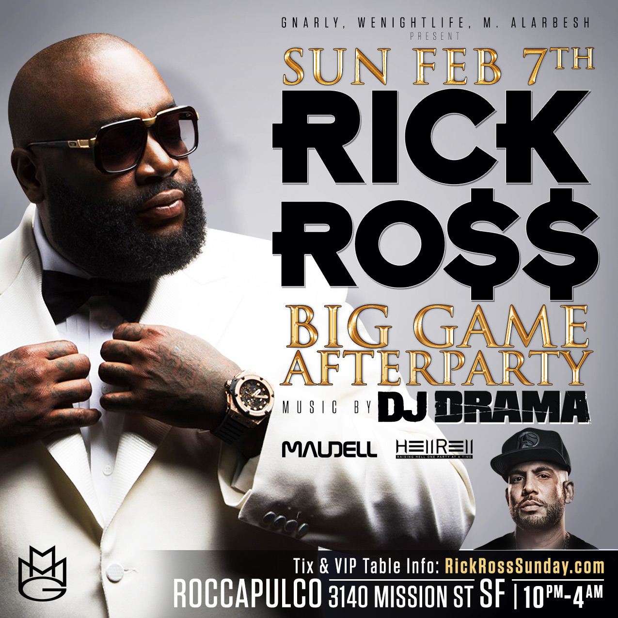 Rick Ross Super Bowl Party Roccapulco 2016 SF SB50