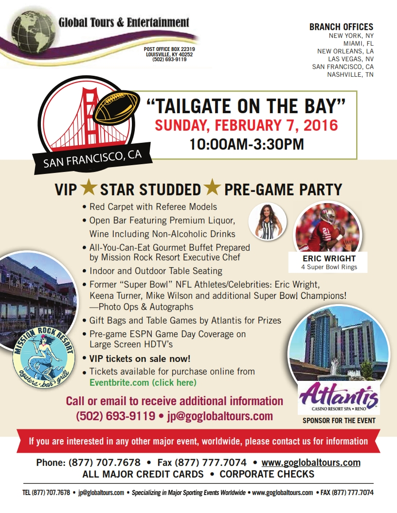 TailGate On The Bay Super Bowl Party 20160127