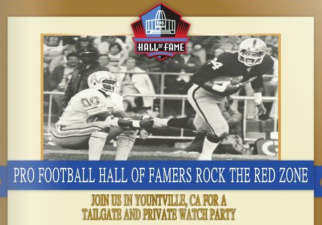 Pro Football HOF Rock the Redzone Yountville Super Bowl Party