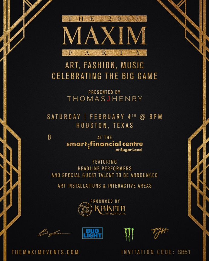 2017 Maxim Super Bowl Party Houston Events