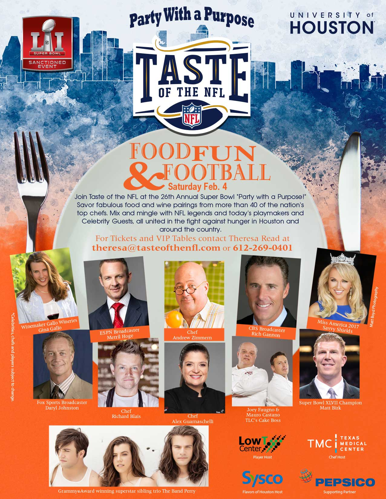 2017 Taste of the NFL Super Bowl Party Houston