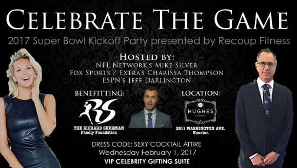 Celebrate the Game Richard Sherman Foundation Super Bowl Party