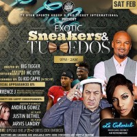 Exotic Sneakers and Tuxedos Super Bowl Party Houston 2017