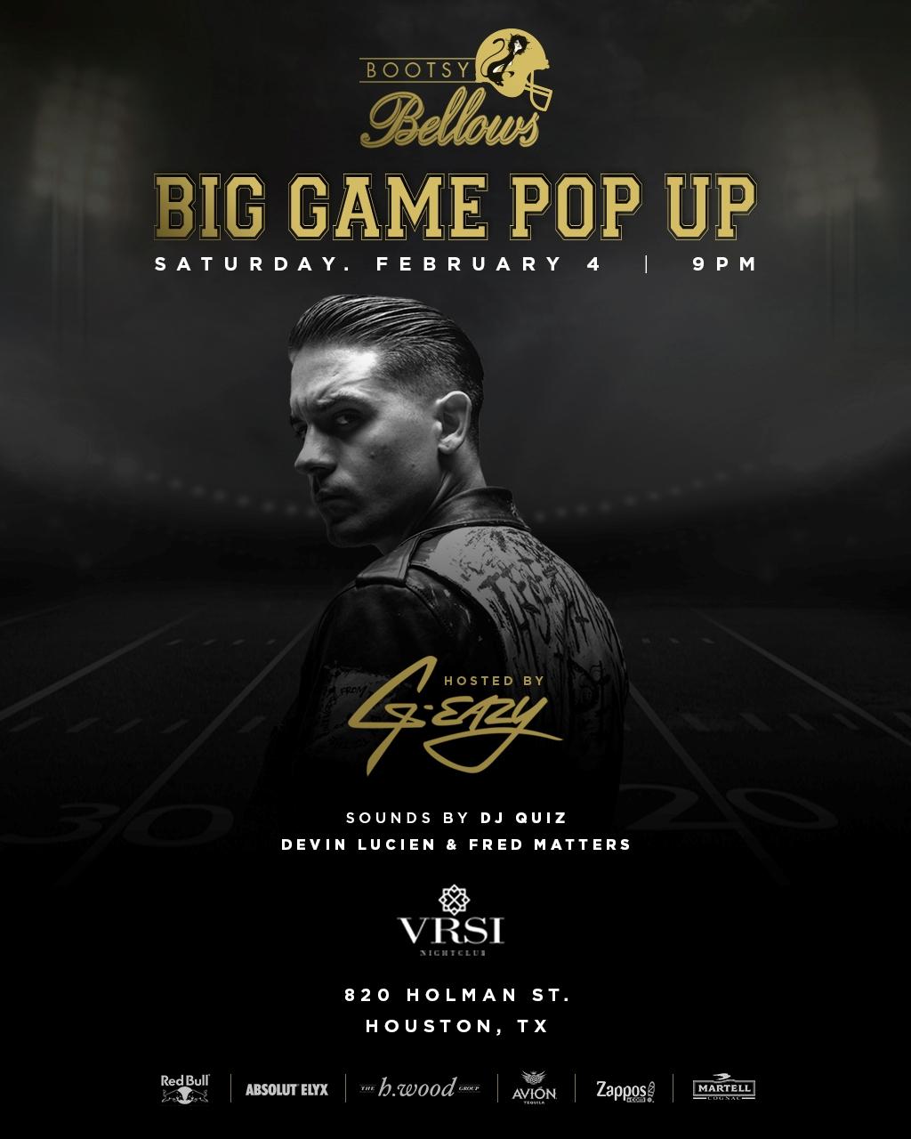 G Eazy Super Bow Party Houston 2017 VRSI Bootsy Bellows