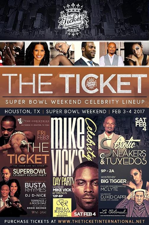 The Ticket International Super Bowl Parties Houston 2017