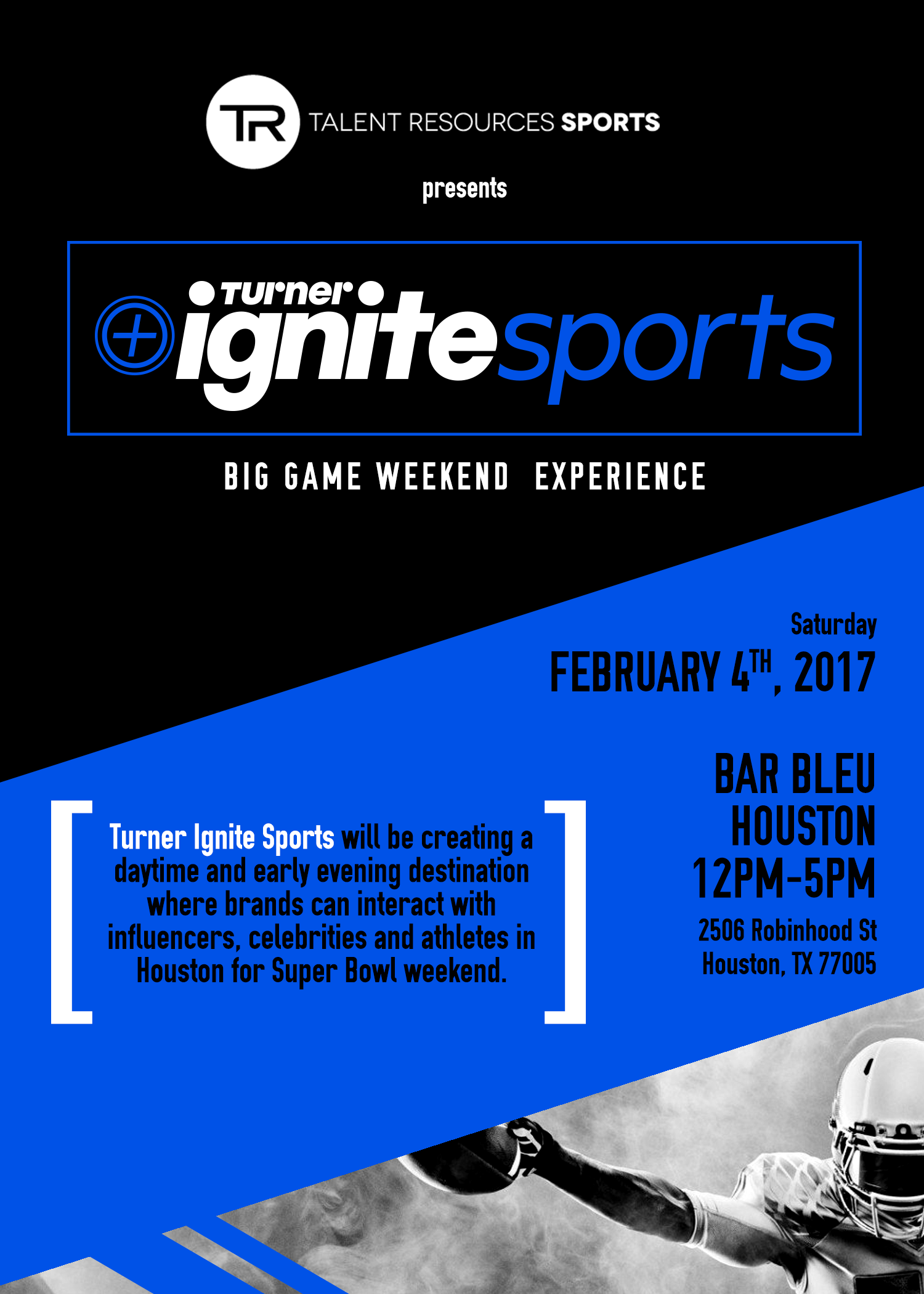 Turner Ignite Sports Luxury Lounge Super Bowl Party Houston 2017