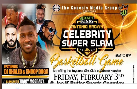 draftkings antonio brown celebrity superslam super bowl event 2017