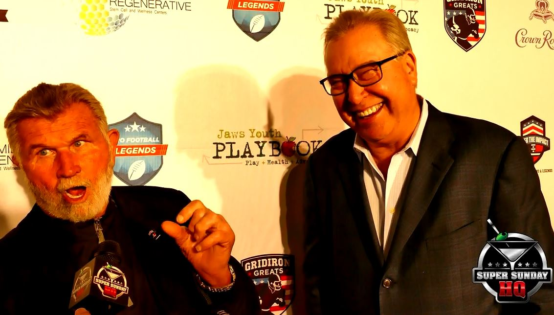 Mike Ditka Interview Tom Brady 85 Bears Ron Jaworski Cigars with Stars Super Bowl Party Houston 2017