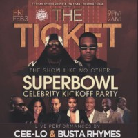 The Ticket Super Bowl Weekend Houston Super Bowl Party 2017 Cee Lo Green SB51