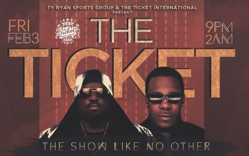 The Ticket Super Bowl Weekend Houston Super Bowl Party 2017 Cee Lo Green SB51 VIP
